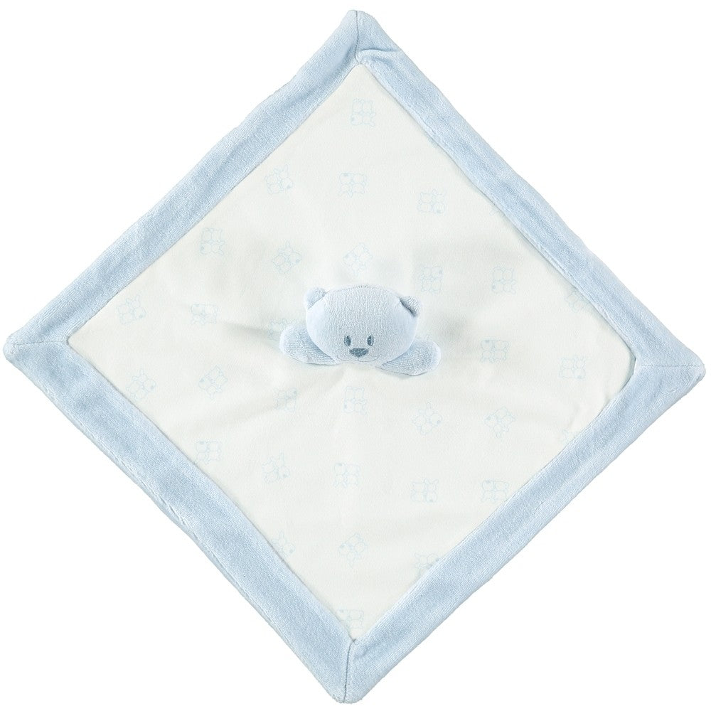 Emile et Rose Blue Emile Bear Soft Velour Comforter Toy