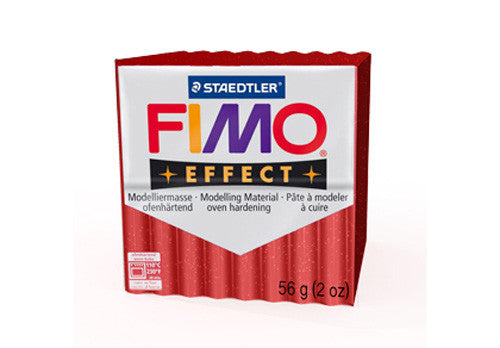 Fimo Effect Glitter - Red - 57g