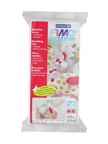 Fimo Air Drying Clay - White - 1kg