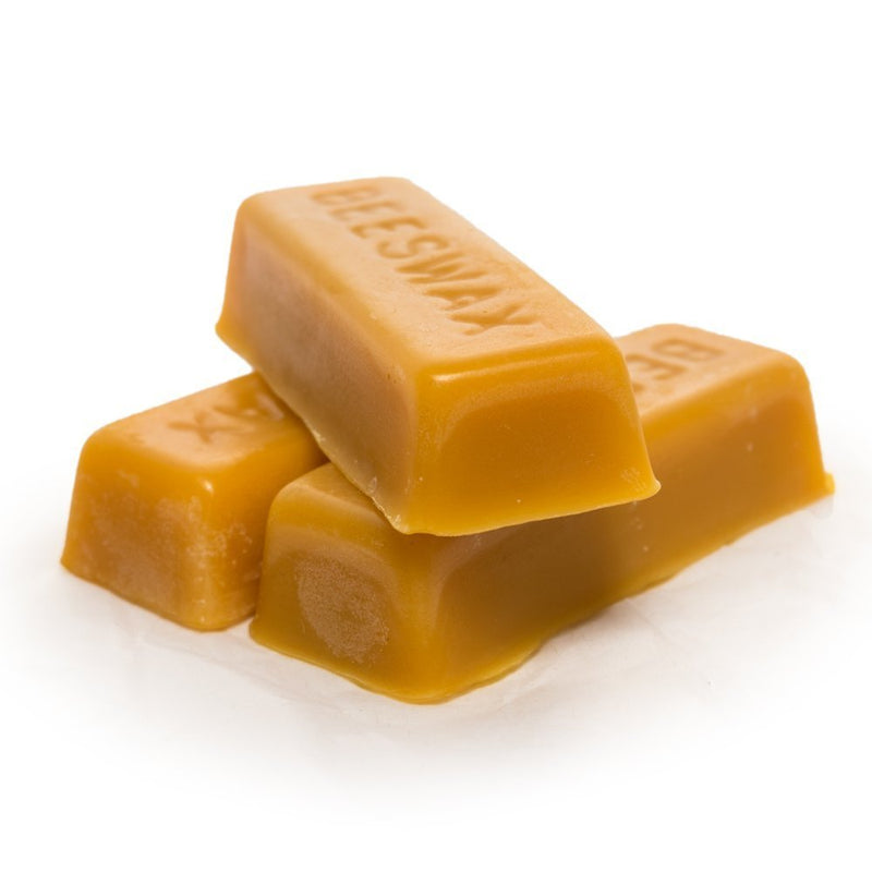 LiveMoor - 3 Pure Beeswax blocks - 100% pure and natural beeswax