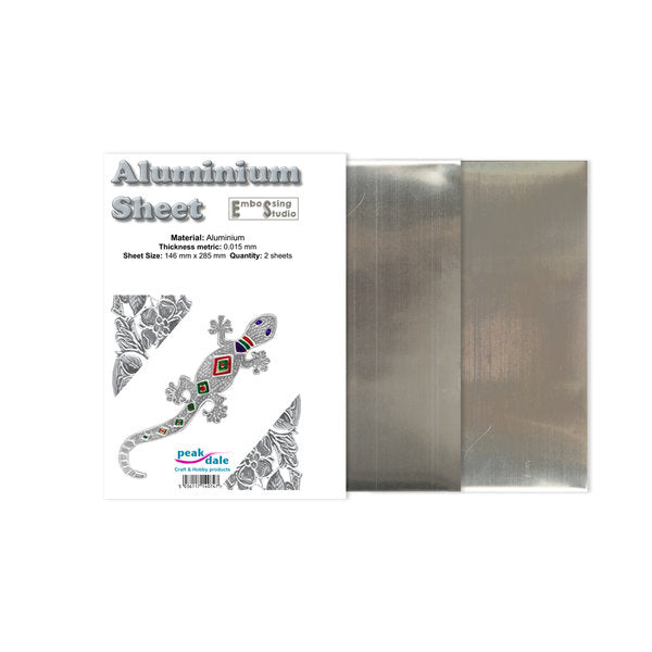 Aluminiumsfoliepakke Medium 0.15 mm - 2 ark