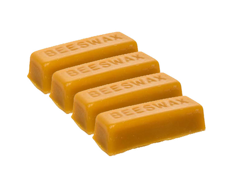 4 Pure Beeswax blocks - 100% pure and natural beeswax