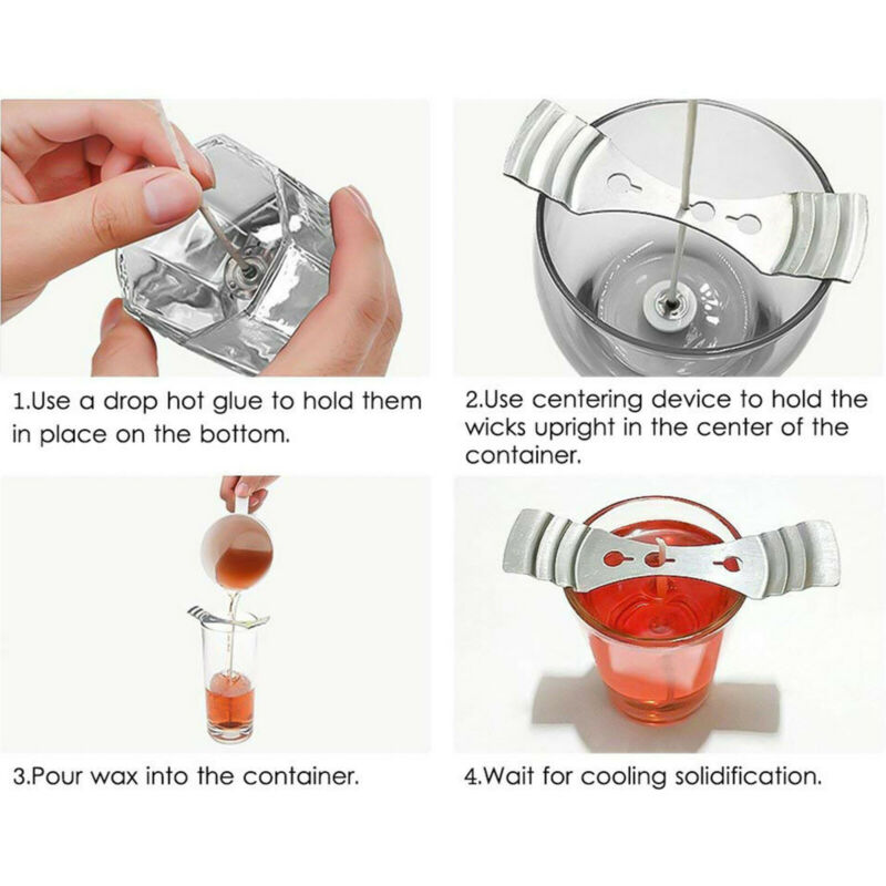 Metal Candle Wick Holders / Centering Tool - Various Quantities