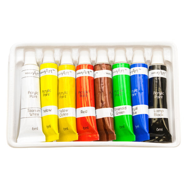 Work of Art - Acrylic Paint Set - 6ml Tubes x 8