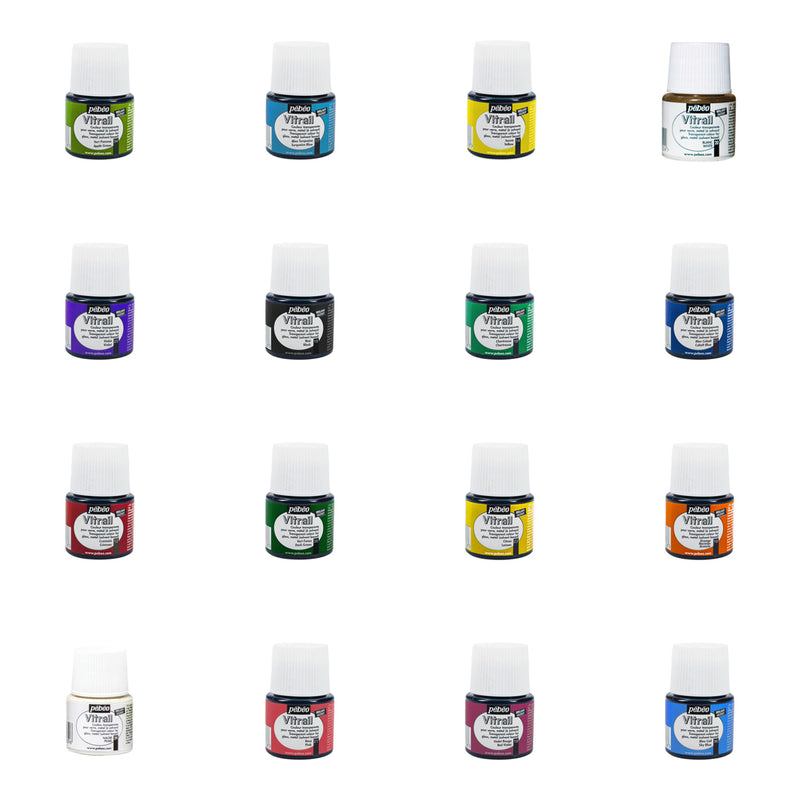 Pebeo Vitrail - Glass Paints - Various Colours - 45ml Bottles