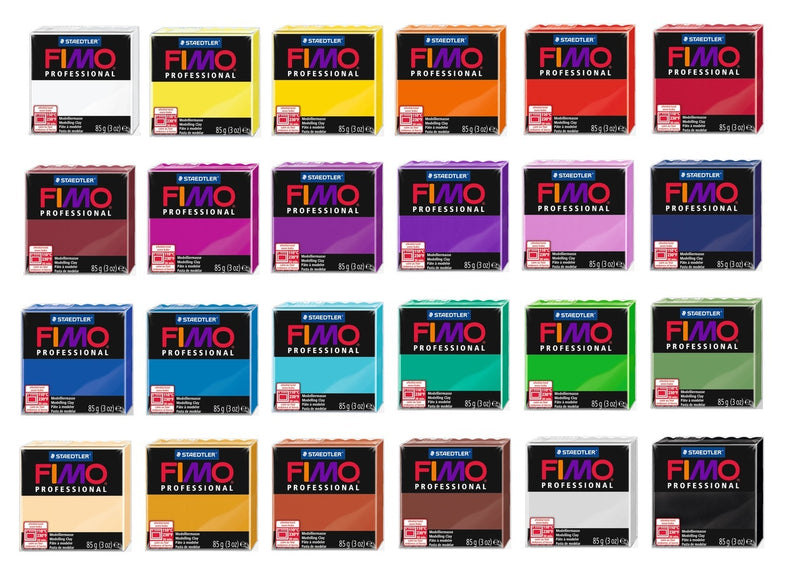 Fimo Professional Modelling Material - Standard 85g Blocks - Various