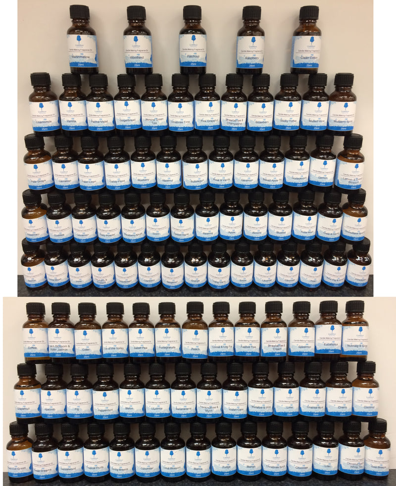 Various LiveMoor Fragrance Oil - 10ml - Paraben Free - Over 100 Fragrances