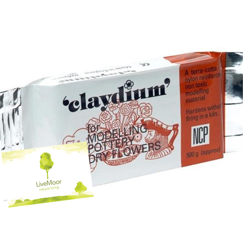 Newclay Claydium 500g-1kg Packs - Air Drying Reinforced Modelling/Pottery Clay - Terracotta