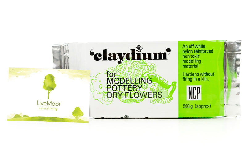 Newclay Claydium 500g-1kg Packs - Air Drying Reinforced Modelling/Pottery Clay - White