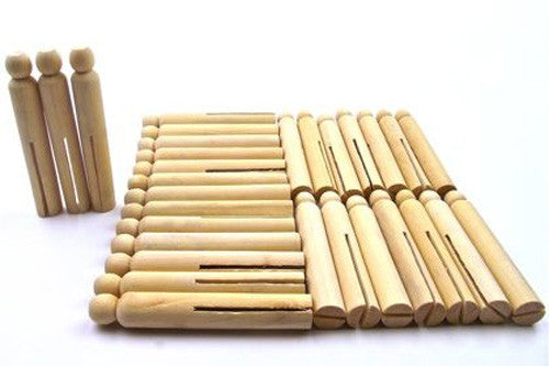 Dolly Pegs Pack Natural - 10 Pegs
