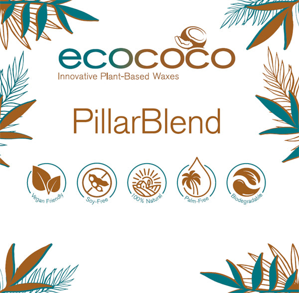 EcoCoco Wax - Pellet Blend Pillar - Coconut Wax