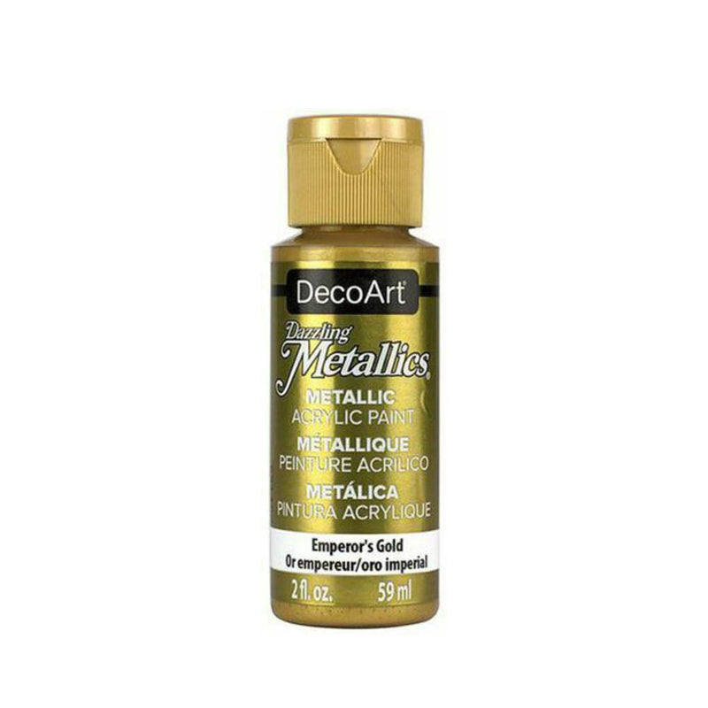 DecoArt Dazzling Metallic Acrylic Craft Paints. 2oz / 59ml