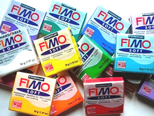Fimo Oven Bake Clay - Starter set 6 x 57g Blocks - Assorted Colours