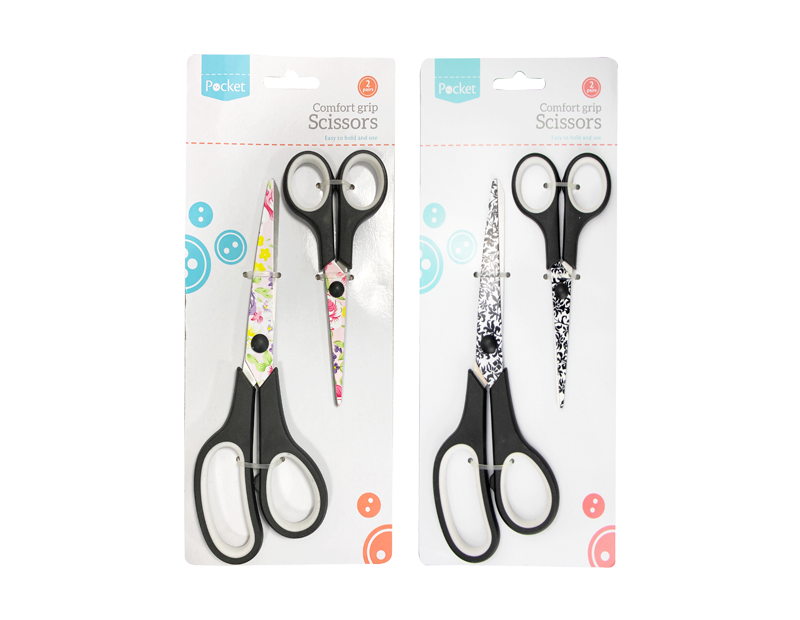 Floral Pattern Scissors - 2 Pack