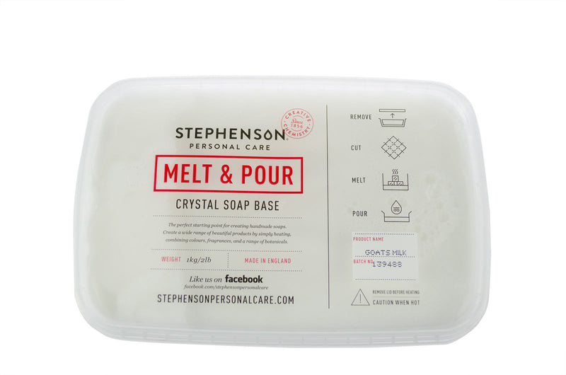 Stephenson Goats Milk - Melt and Pour Soap Base 100g-11.5kg