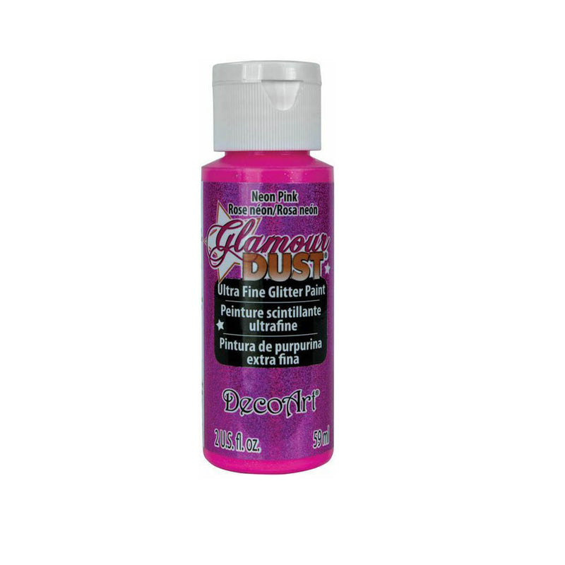 DecoArt Glamour Dust Ultra Fine Glitter Craft Paint 2oz (59ml) - Varios colores
