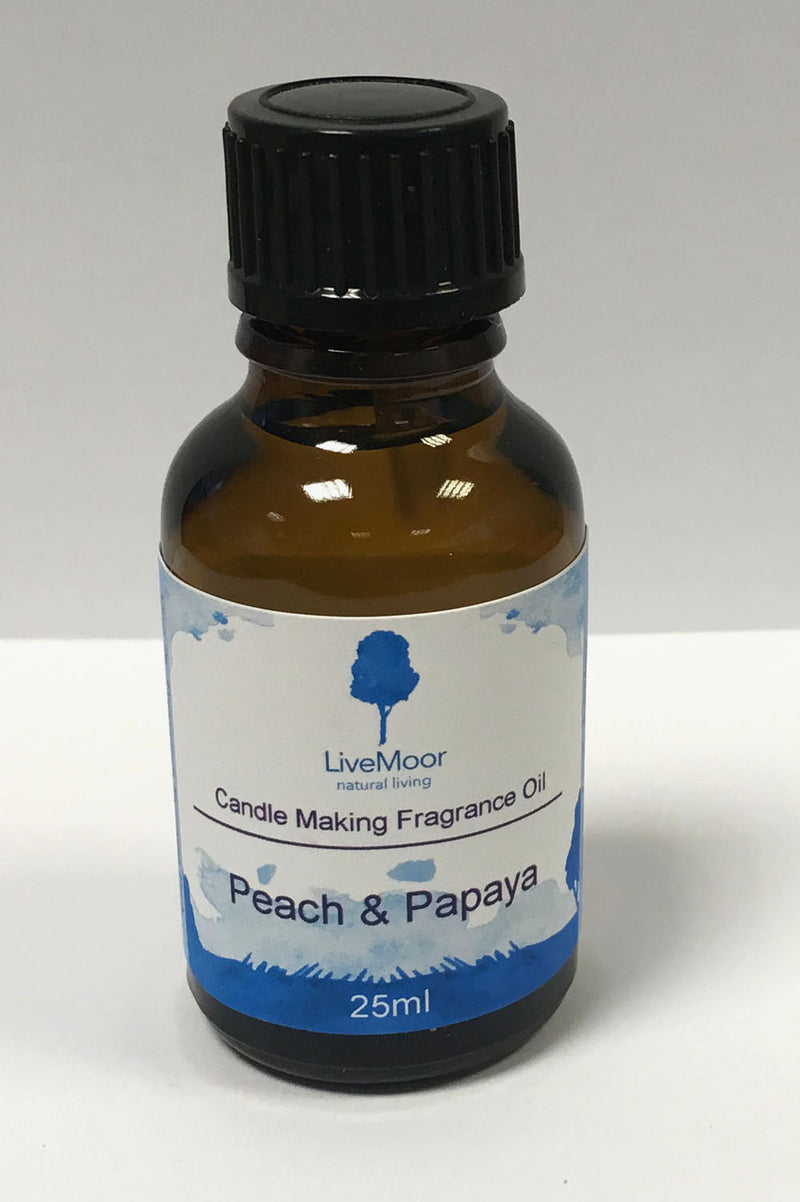 LiveMoor Fragrance Oil - Peach & Papaya - 25ml