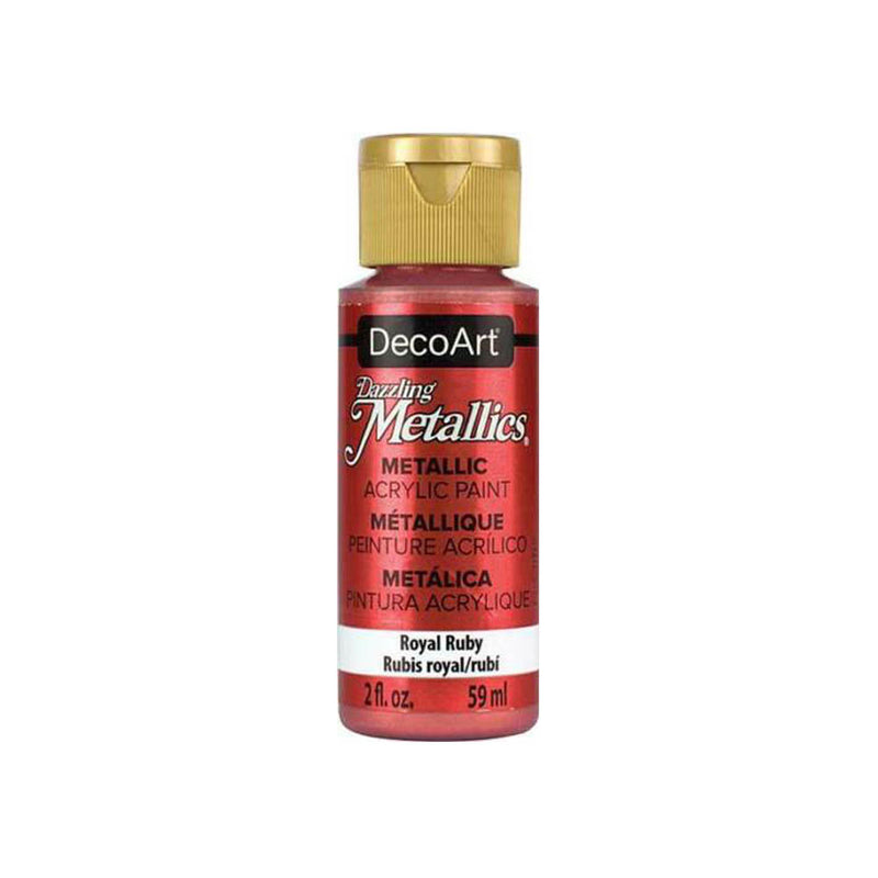 DecoArt Dazzling Metallic Acrylic Craft Paints. 2 ουγκιές / 59 ml