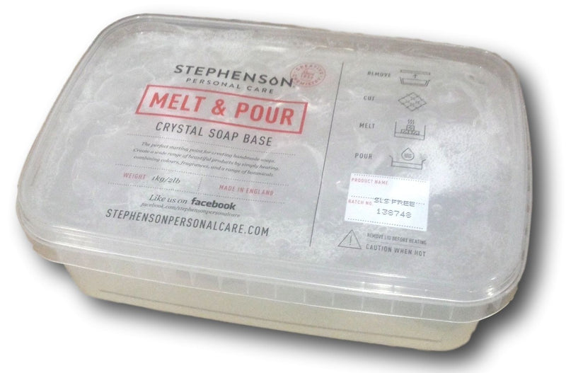 Stephenson SLS Free - Clear - Melt and Pour Soap Base 100g-11.5kg