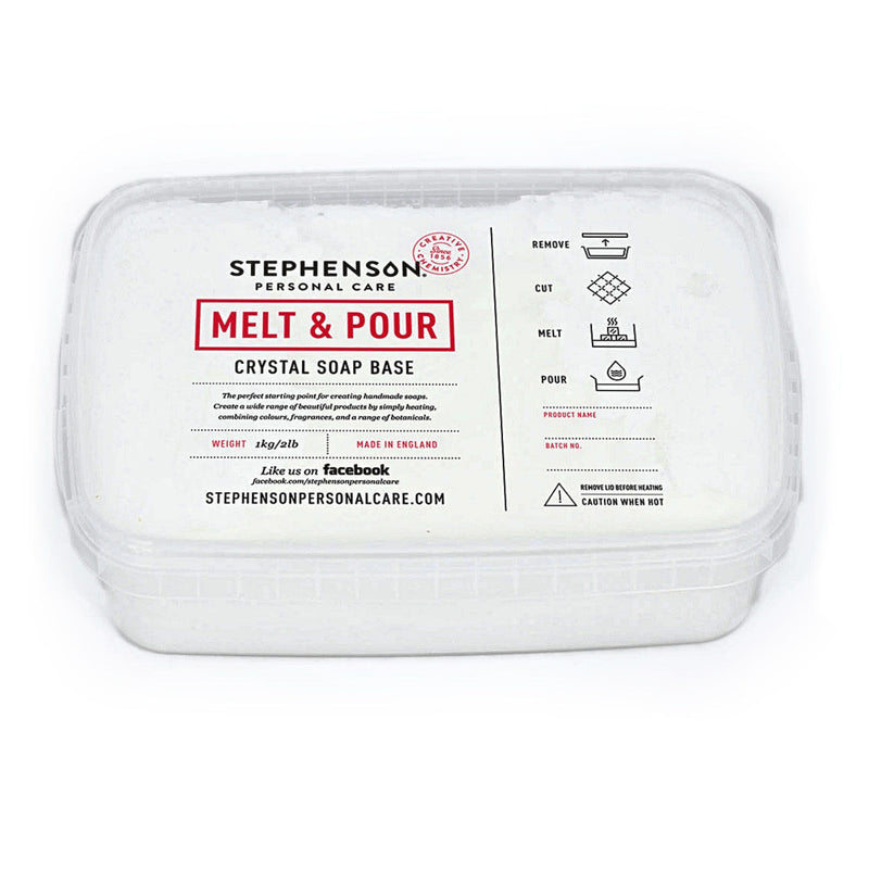 Stephenson SLS Free - White - Melt and Pour Soap Base 100g-11.5kg
