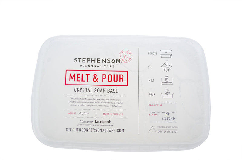 Stephenson Clear Standard Melt and Pour Soap Base 100g-11.5kg