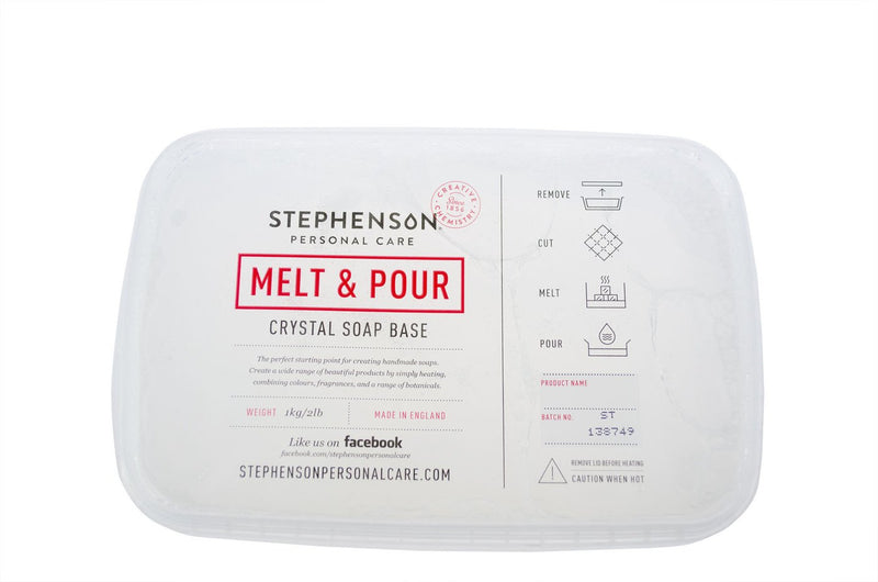 Stephenson White Standard Melt and Pour Soap Base 100g-11.5kg