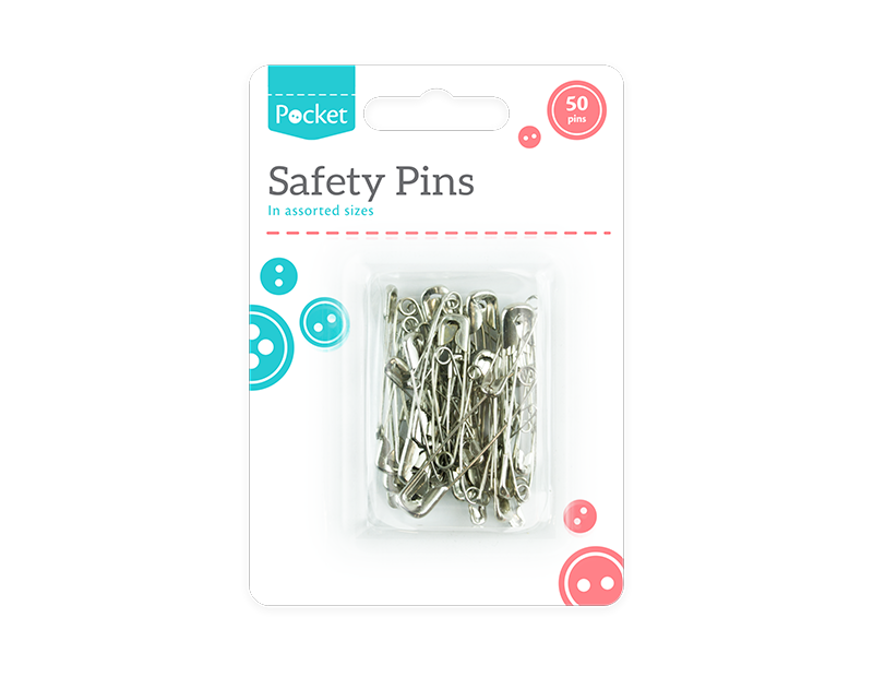 Safety Pins - 50 Pack
