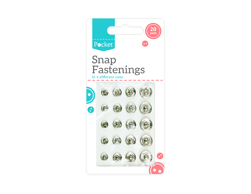 Snap Fastenings - 20 Pack