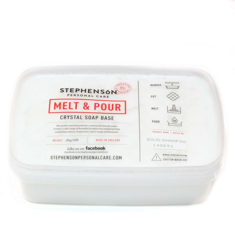 Stephenson - Solid Shampoo - Melt and Pour Soap Base 100g-10kg
