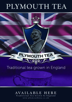 A3 Plymouth Tea Poster of Box