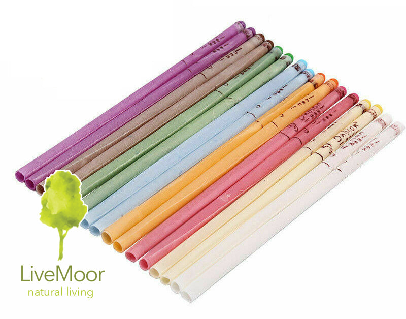 Natural Beeswax Hopi Ear Candles - Random Colours - Various Quantities