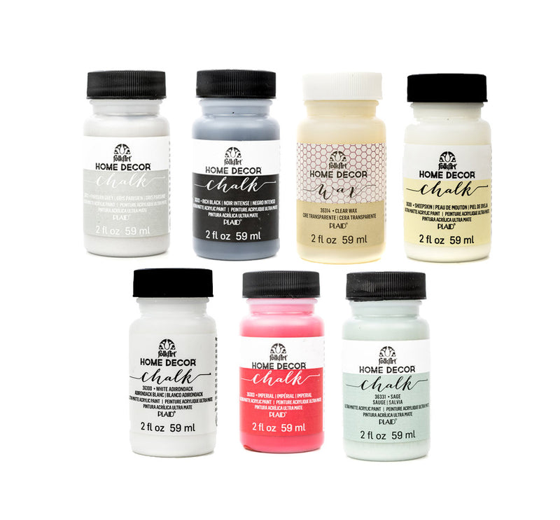 Plaid Folk Art Chalk Paint - 2oz / 59ml Bottles - Various Colours