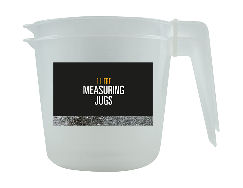 Plastic Measuring Jugs - 1L - Various Pack Sizes