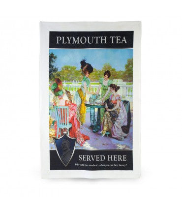Plymouth Tea Tea Towel with Ladies