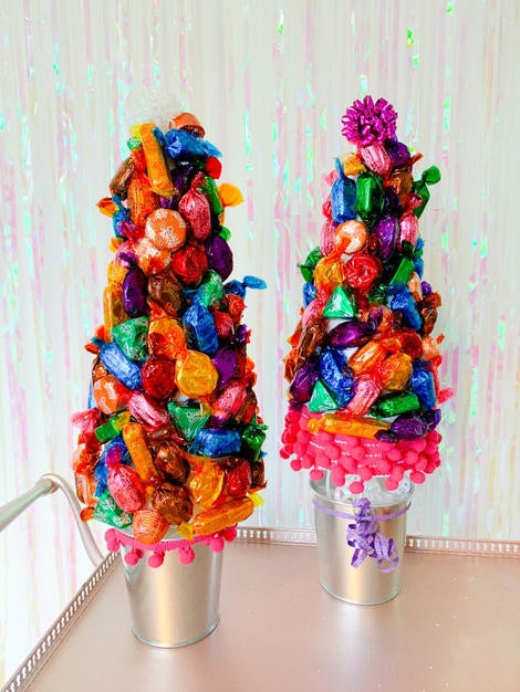 Make your own - Sweet Christmas Tree Kit, Polystyrene cones, containers, plaster
