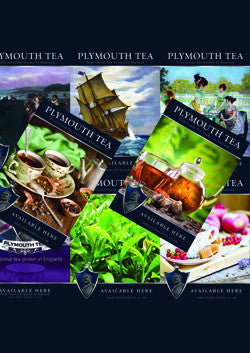 Full Set of 8 x A3 Plymouth Tea Posters