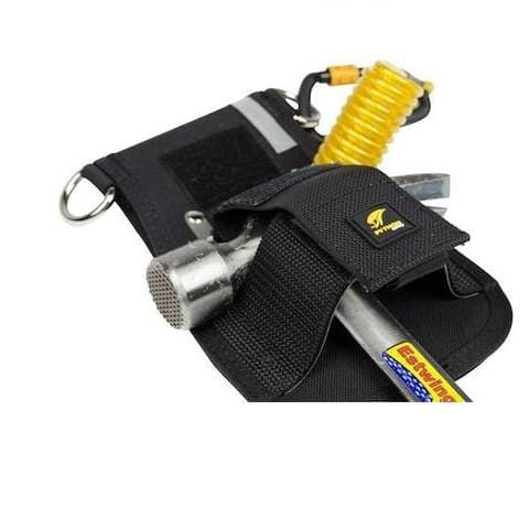 Python Safety™ Hammer Holster - Belt with Hook2Quick Ring Coil Tether with Tail