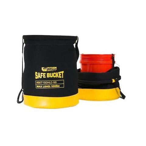 Python Safety™ 5 Gallon Safe Bucket 100lb Load Rated Hook and Loop Canvas