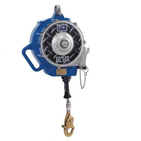 "Sealed-Blok™ Self Retracting Lifeline - Retrieval/Bracket 85 ft. (25.5m) of 3/16"" (5mm) galvanized steel wire rope"