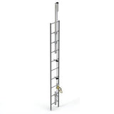Lad-Saf™ for Fixed Ladder (Bolt-On) - Galvanized