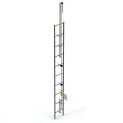 Lad-Saf™ for Fixed Ladder (Bolt-On) - Galvanized - Barry Cordage