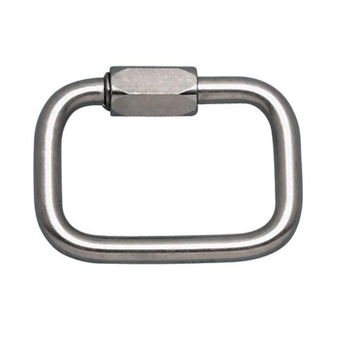 "Square Quick Link 3/8"" Stainless Steel (WLL 2100 lbs)"