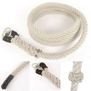 Spun Polypropylene Climbing Rope with Knots 1¼'' - 25' - Barry Cordage