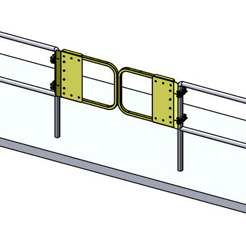 Tandem Setup GuardDod Self-Closing Safety Gates (double) - Barry Cordage