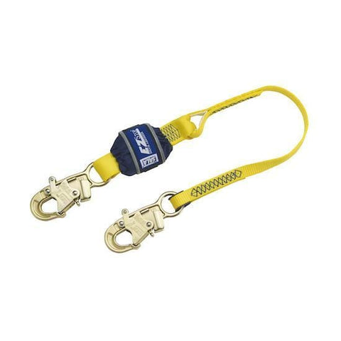 EZ-Stop™ Shock Absorbing Lanyard - E4 snap hooks at each end 3 ft. (0.9m) - Barry Cordage