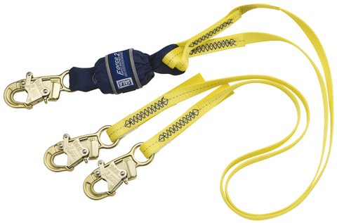 Force2™ 100% Tie-Off Shock Absorbing Lanyard - Snap hooks