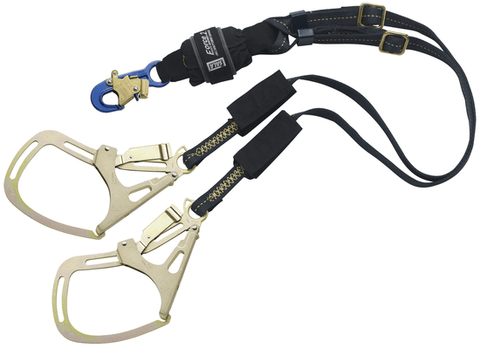 Force2™ Adjustable 100% Tie-Off Shock Absorbing Lanyard