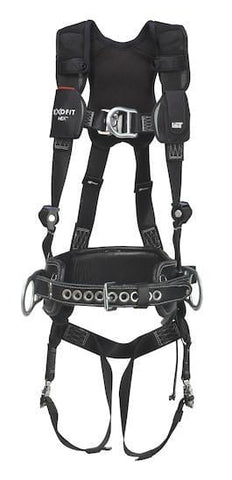 ExoFit NEX™ Lineman Vest-Style Harness with 2D Belt (size Medium) - Barry Cordage