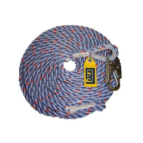 DBI Sala Rope Lifeline with Snap Hook 75 ft. (22 m) - Barry Cordage