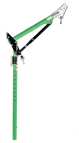 Advanced™ One-Piece Adjustable Offset Davit Mast 81.5 in. to 91.5 in - Barry Cordage